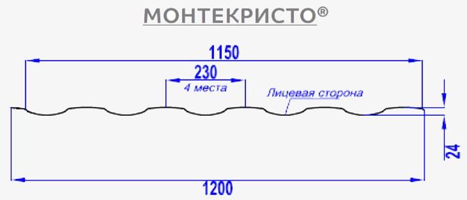 монтекристо схема черепицы
